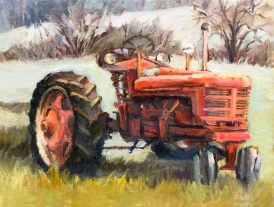 2_Red Tractor at Luscher Farms