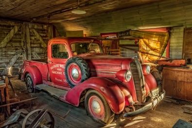 Truck in Garage - Palouse Area of Washington
